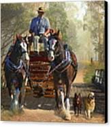 At Durdidwarrah Crossing Canvas Print by Trudi Simmonds