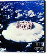 Atomic Bomb Test Cloud Canvas Print by Science Source