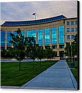 Aurora Municipal Center Hdr Canvas Print by Sergio Aguayo