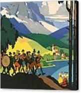 Austrian Alps Canvas Print by Georgia Fowler
