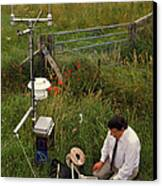 Automated Weather Monitoring Station Canvas Print by David Parker
