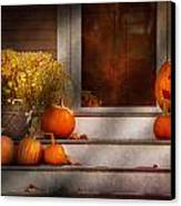 Autumn - Halloween - We're All Happy To See You Canvas Print by Mike Savad