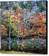 Autumn At Beaver's Bend Canvas Print by Tamyra Ayles