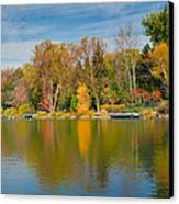 Autumn At Mill Pond Park Canvas Print by Luba Citrin