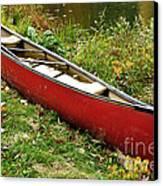Autumn Canoe Canvas Print by Thomas R Fletcher