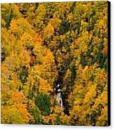 Autumn Colour And Waterfalls, Cape Canvas Print by John Sylvester