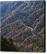 Autumn In The Smoky Mountains Canvas Print by Dennis Hedberg