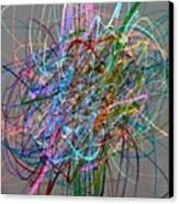 Autumn Likes Lines Canvas Print by Michelle Calkins
