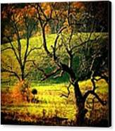 Autumn Valley Canvas Print by Michael L Kimble