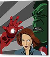 Avengers Assemble Canvas Print by Lisa Leeman