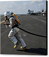 Aviation Boatswain's Mate Carries Canvas Print