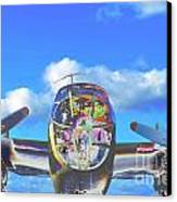 B-25j Jazzed Canvas Print by Lynda Dawson-Youngclaus