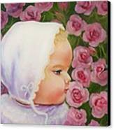 Baby Meets Hummingbird Canvas Print