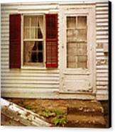 Back Door Of Old Farmhouse Canvas Print