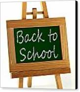 Back To School Sign Canvas Print by Blink Images