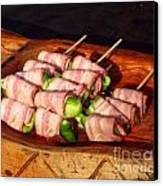Bacon And Pepper Skewers Canvas Print