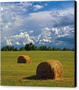 Bales Of Hay Canvas Print