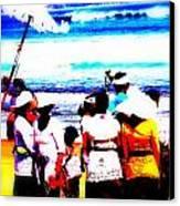 Balinese Beach Funeral  Canvas Print