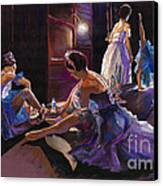 Ballet Behind The Scenes Canvas Print