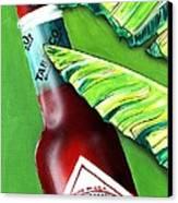 Banana Leaf Series - Tabasco Bottle Canvas Print by Terry J Marks Sr