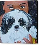 Bandit And Me Canvas Print by Peggy Patti