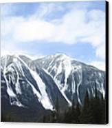 Banff Ski Runs Canvas Print by Wayne Bonney