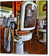 Barber - Barber Chair Canvas Print by Paul Ward