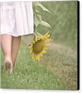 Barefoot Summertime Canvas Print by Marta Nardini