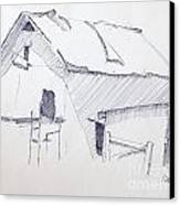 Barn 3 Canvas Print by Rod Ismay
