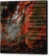 Barn Burning Canvas Print by Jack Zulli