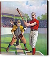 Baseball Game, C1895 Canvas Print