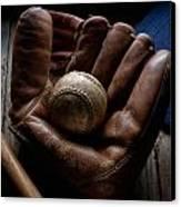 Baseball Glove Canvas Print by Bob Nardi