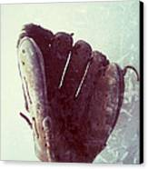 Baseball Glove Vertical Canvas Print