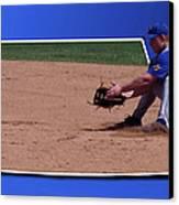 Baseball Hot Grounder Canvas Print