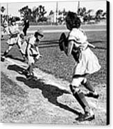 Baseball, Kenosha Comets Play Canvas Print by Everett