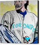 Baseball Player Canvas Print by First Star Art
