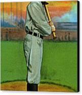 Baseball. Ty Cobb Baseball Card Canvas Print