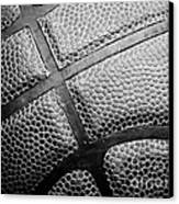 Basketball -black And White Canvas Print