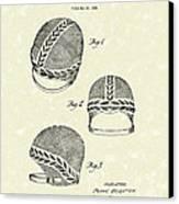 Bathing Cap 1936 Patent Art Canvas Print by Prior Art Design