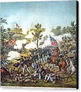 Battle Of Atlanta, 1864 Canvas Print by Granger