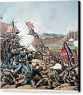 Battle Of Franklin, 1864 Canvas Print