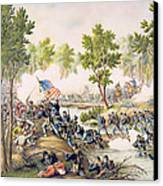 Battle Of Spottsylvania May 1864 Canvas Print