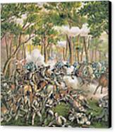 Battle Of The Wilderness May 1864 Canvas Print by American School