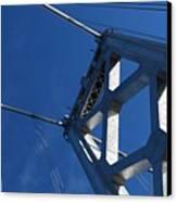 Bay Bridge And Blue Sky, San Francisco Canvas Print by Jamie Jennings www.JJphotos.ca