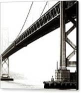 Bay Bridge Canvas Print by Jarrod Erbe