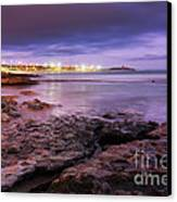 Beach At Dusk Canvas Print by Carlos Caetano