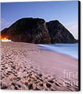 Beach At Evening Canvas Print by Carlos Caetano