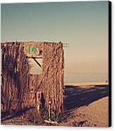 Beach Hut Number Fourteen Canvas Print by Laurie Search