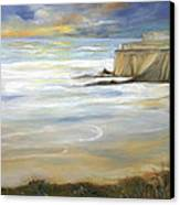 Beach On Highway One Canvas Print by Max Mckenzie
