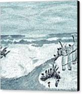 Beach Seashore Abstract Canvas Print by Marsha Heiken